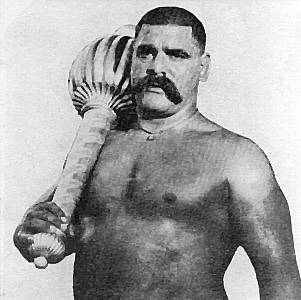Gama Pehlwan, the kushti king, posing