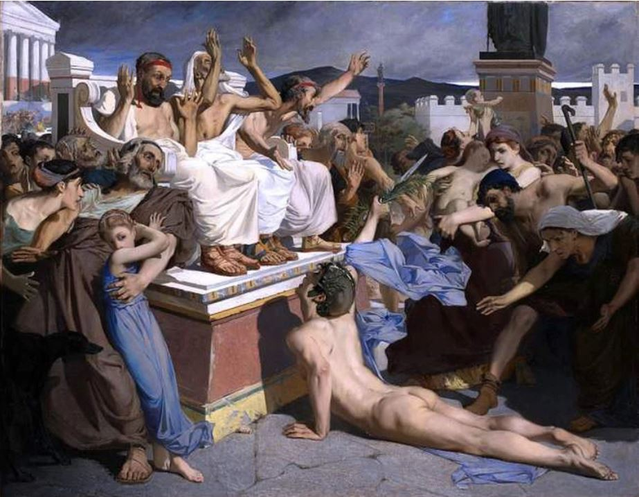 Pheidippides delivers the letter, painting