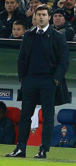 Pochettino in the game against Bayern in London