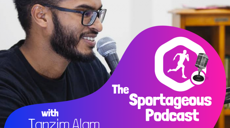 Logo of Sportageous Podcast with Tanzim Alam