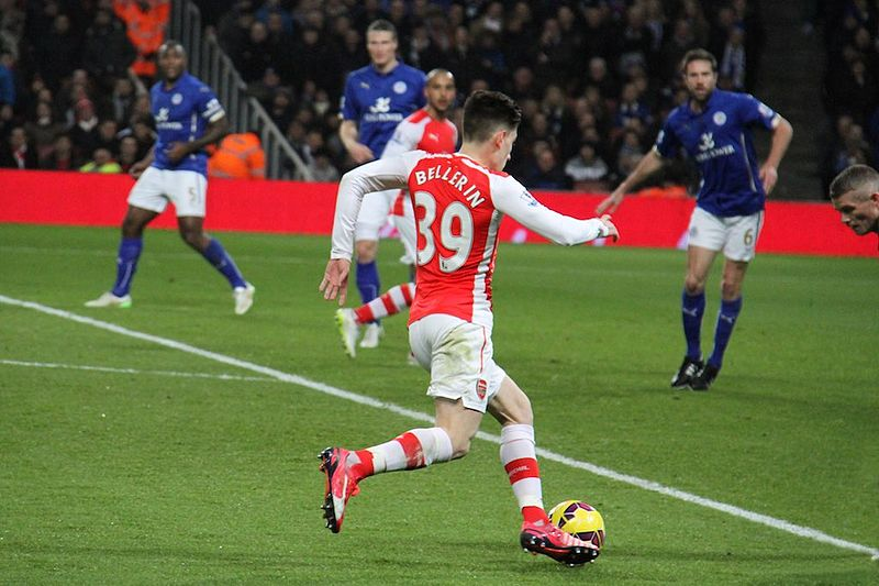 Hector Bellerin in the English Premier League for Arsenal