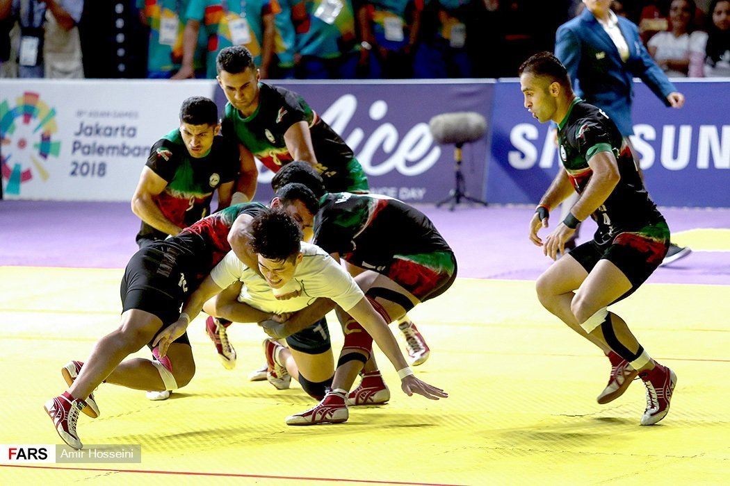 Iranian team, Kabbadi world cup against Korea