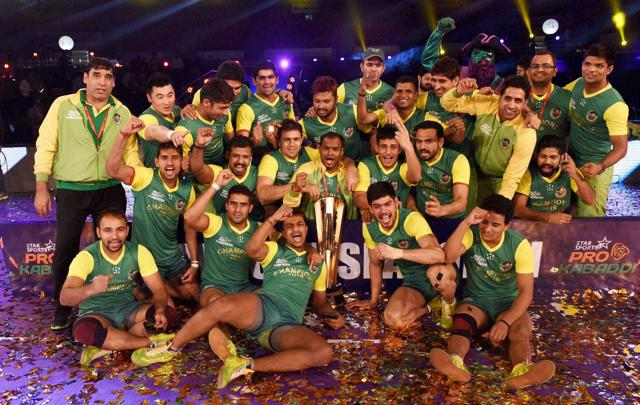 The Pro Kabbadi finalist winners team