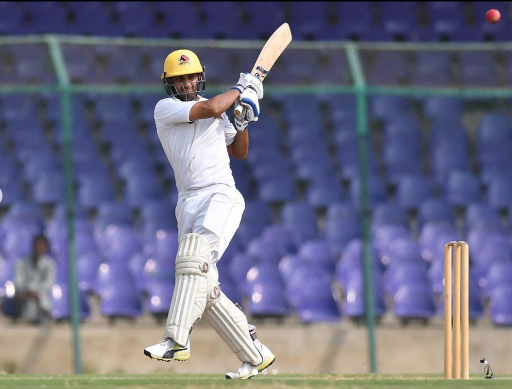 Shehzar Mohammad batting for Karachi Whites in Pakistan cricket