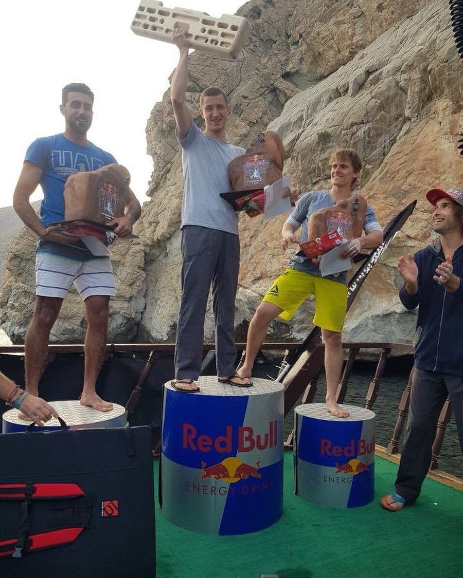 Hamad Sajwani Red Bull series second rank at climbing competition, Emirati Climber