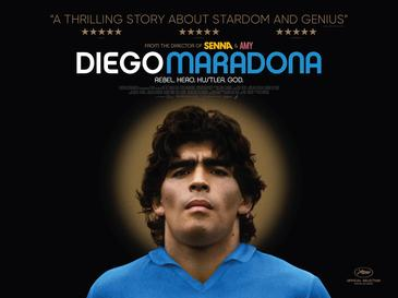 Cover of documentary about one of football soccer greatest legend diego maradona