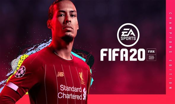 Virgil Van Dijk COVID-19 Football game FIFA 20
