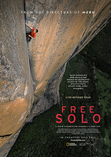 Free Solo Documentary cover: one of the finest movies on climbing