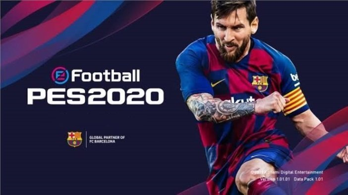 Messi on the cover of PES2020 Football game to play during COVID-19