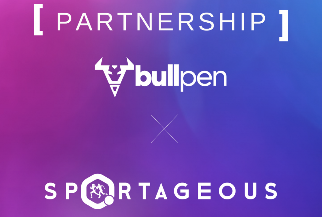 Bullpen and Sportageous partnership announcement.