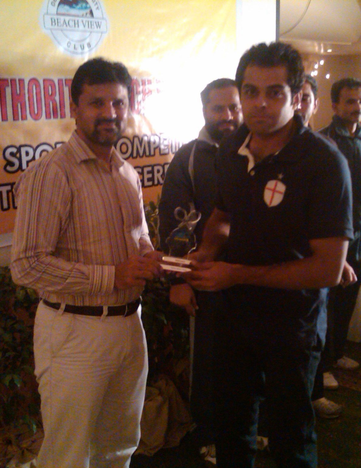 Sikander Hayat Standing with Moin Khan Tennis