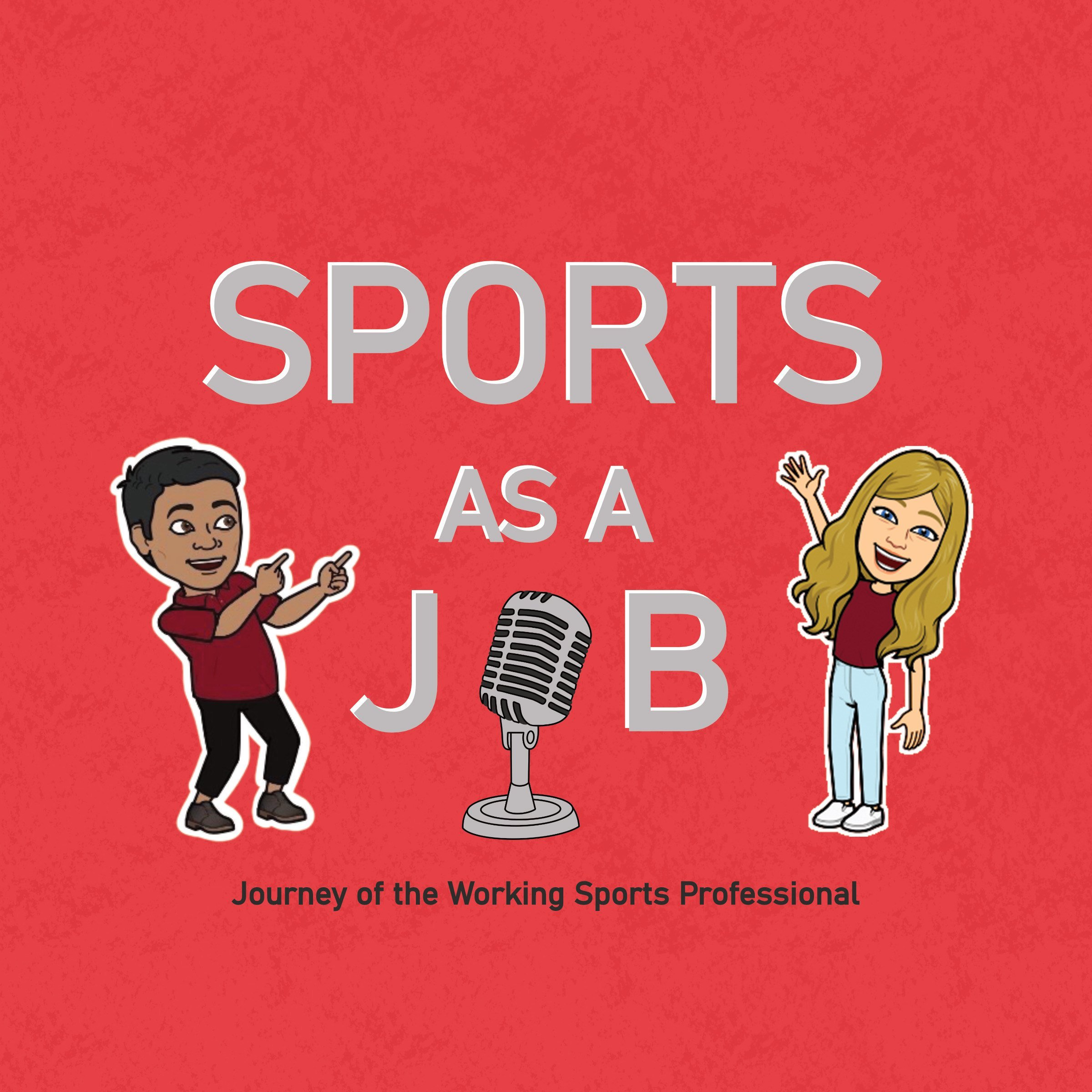 Sports as a job podcast cover