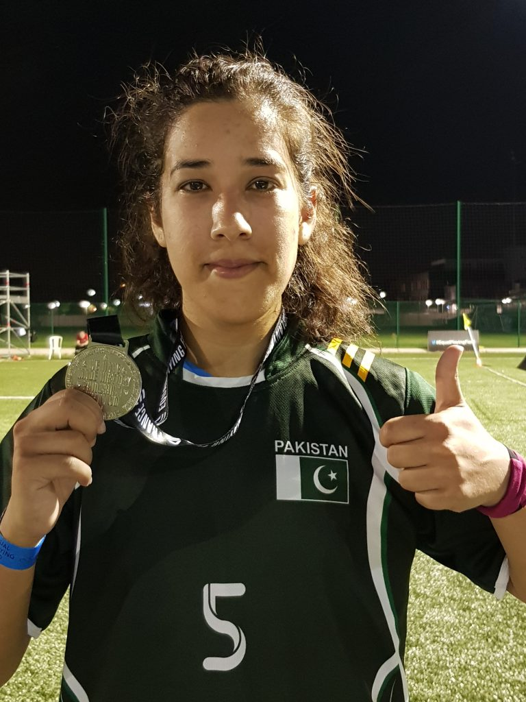 abiha haider with her medal Pakistan