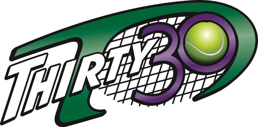 Thirty 30 tennis logo