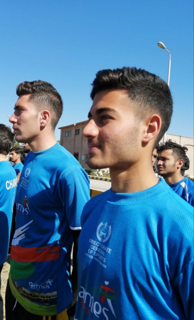 wadan durrani during line up before his football match